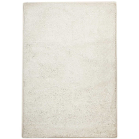 Arnhem Contemporary White Microfiber Soft Shaggy Rug - Rugs Of Beauty