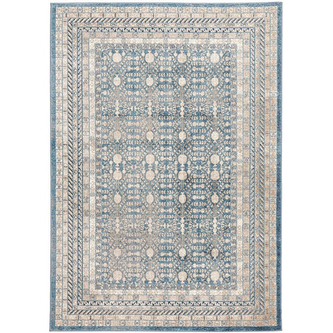 Angelus 709 Blue Beige Traditional Designer Rug - Rugs Of Beauty - 1