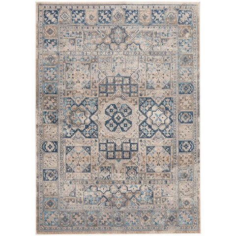 Angelus 705 Blue Bone Traditional Patterned Designer Rug - Rugs Of Beauty - 1