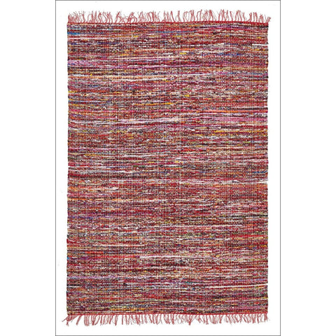 Primal Chindi Cotton Rug Red - Rugs Of Beauty