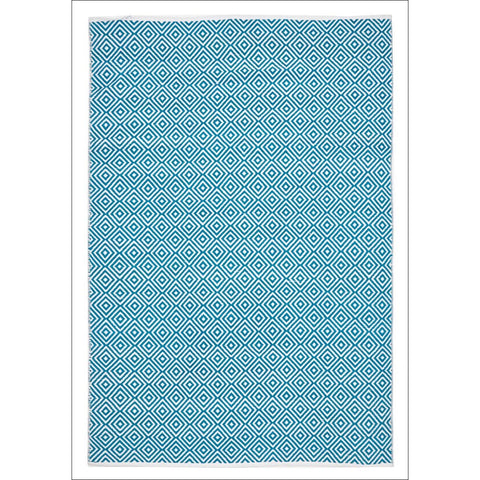 Villa Modern Diamond Rug Turquoise - Rugs Of Beauty