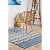 Coogee 4452 White Blue Tribal Inspired Indoor Outdoor Modern Rug - Rugs Of Beauty - 3