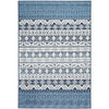 Coogee 4452 White Blue Tribal Inspired Indoor Outdoor Modern Rug - Rugs Of Beauty - 1