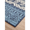 Coogee 4452 White Blue Tribal Inspired Indoor Outdoor Modern Rug - Rugs Of Beauty - 6