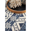 Coogee 4452 White Blue Tribal Inspired Indoor Outdoor Modern Rug - Rugs Of Beauty - 5