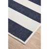 Coogee 4453 Navy Blue White Stripes Indoor Outdoor Modern Rug - Rugs Of Beauty - 6