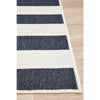 Coogee 4453 Navy Blue White Stripes Indoor Outdoor Modern Rug - Rugs Of Beauty - 7