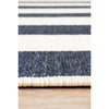 Coogee 4453 Navy Blue White Stripes Indoor Outdoor Modern Rug - Rugs Of Beauty - 8
