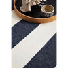 Coogee 4453 Navy Blue White Stripes Indoor Outdoor Modern Rug - Rugs Of Beauty - 5