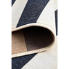 Coogee 4453 Navy Blue White Stripes Indoor Outdoor Modern Rug - Rugs Of Beauty - 9