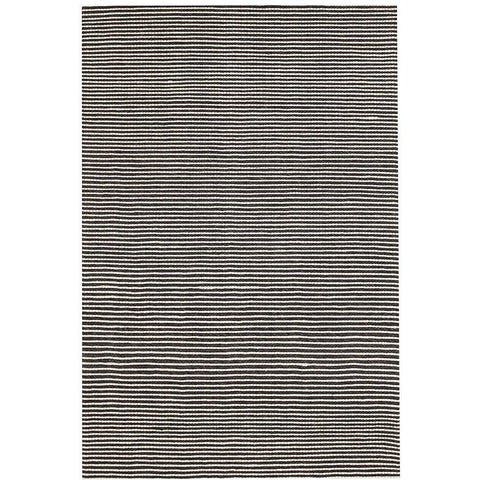 Avesta 1756 Black White Stripe Modern Scandinavian Wool Rug - Rugs Of Beauty - 1