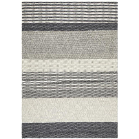 Avesta 1761 Silver Grey Beige Modern Scandinavian Wool Rug - Rugs Of Beauty - 1