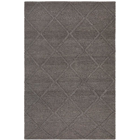 Avesta 1762 Grey Lattice Pattern Modern Scandinavian Wool Rug - Rugs Of Beauty - 1