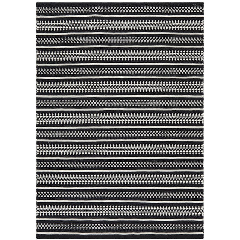 Avesta 1764 Black Patterned Modern Scandinavian Wool Rug - Rugs Of Beauty - 1