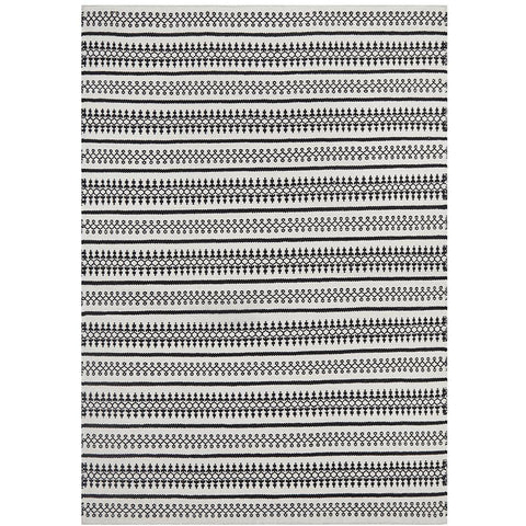 Avesta 1764 White Black Patterned Modern Scandinavian Wool Rug - Rugs Of Beauty - 1