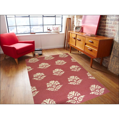 Handwoven Kilim Rug - Sweden 2013 - Red - Rugs Of Beauty