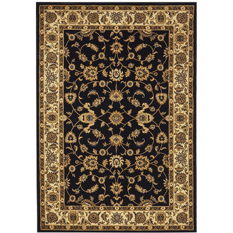 Charook 2376 Navy Blue Traditional Pattern Ivory Border Rug - Rugs Of Beauty - 1