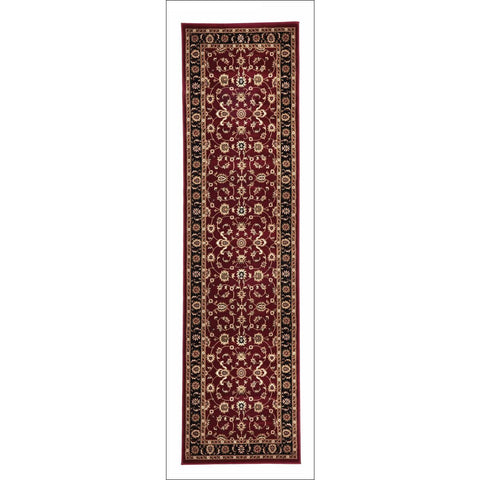 Charook 2376 Red Traditional Pattern Black Border Runner Rug - Rugs Of Beauty - 1