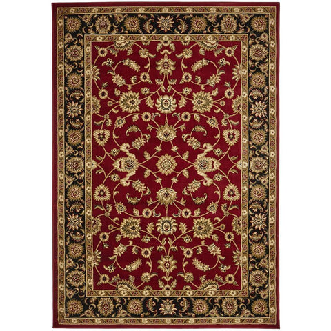 Charook 2376 Red Traditional Pattern Black Border Rug - Rugs Of Beauty - 1