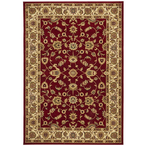Charook 2376 Red Traditional Pattern Ivory Border Rug - Rugs Of Beauty - 1