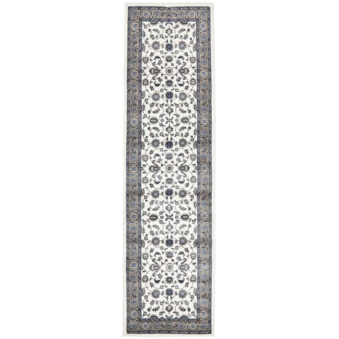 Charook 2376 White Traditional Pattern Beige Border Runner Rug - Rugs Of Beauty - 1