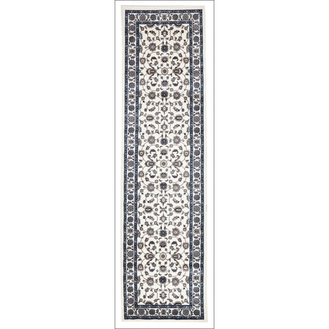 Charook 2376 White Traditional Pattern White Border Runner Rug - Rugs Of Beauty - 1