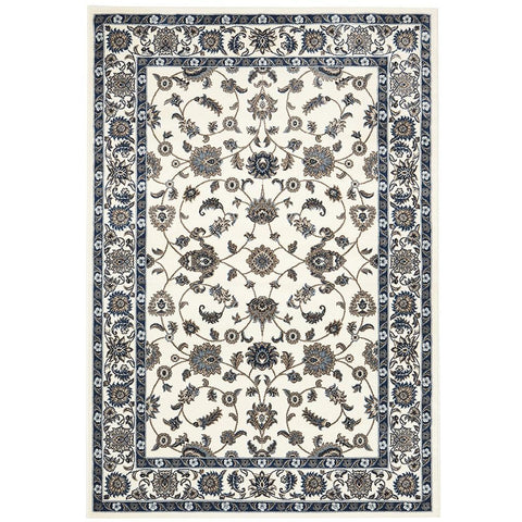 Charook 2376 White Traditional Pattern White Border Rug - Rugs Of Beauty - 1