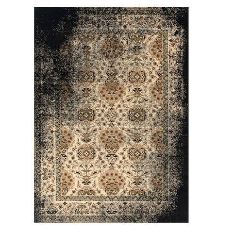 Kota 1422 Black Brown Transitional Patterned Rug - Rugs Of Beauty - 1