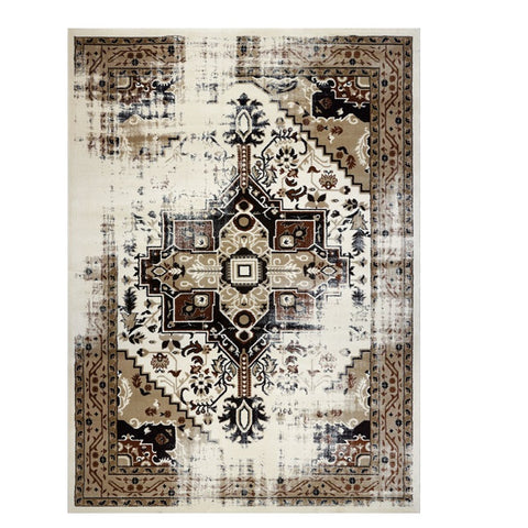 Kota 1423 Brown Beige Transitional Patterned Rug - Rugs Of Beauty - 1