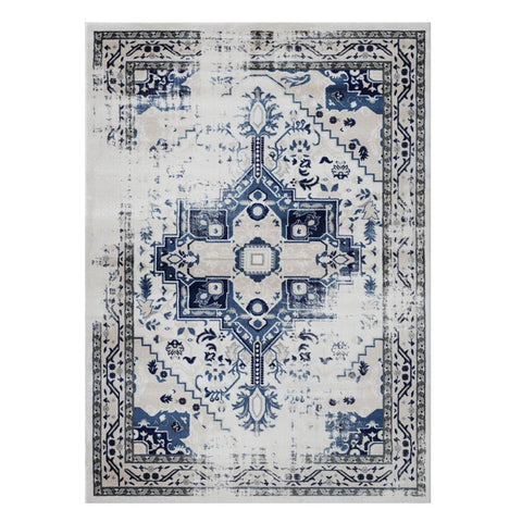 Kota 1423 Blue Beige Transitional Patterned Rug - Rugs Of Beauty - 1
