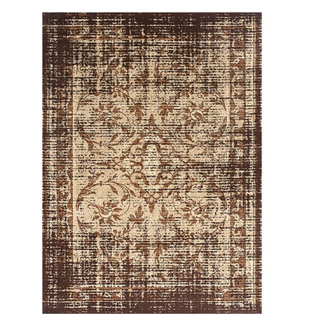 Kota 1424 Brown Cream Transitional Patterned Rug - Rugs Of Beauty - 1