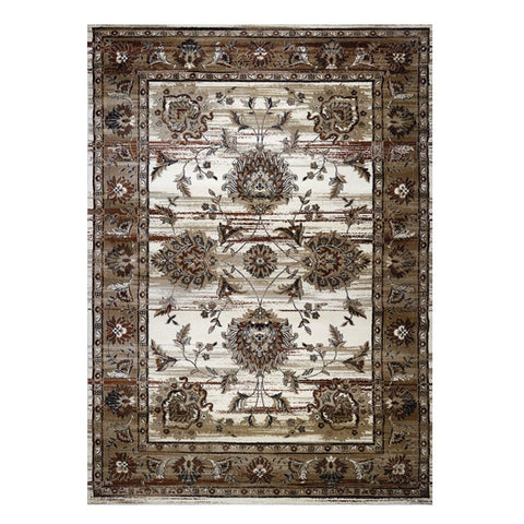 Kota 1426 Brown Beige Transitional Patterned Rug - Rugs Of Beauty - 1