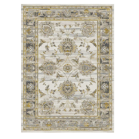 Kota 1426 Gold Grey Beige Transitional Patterned Rug - Rugs Of Beauty - 1