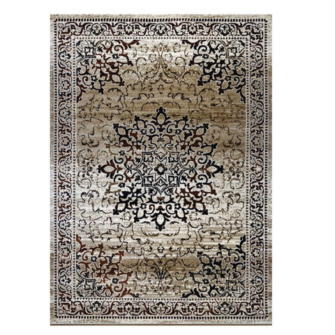 Kota 1427 Beige Brown Black Transitional Patterned Rug - Rugs Of Beauty - 1