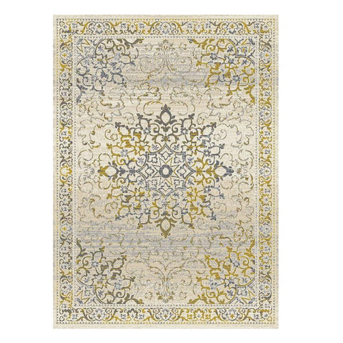 Kota 1427 Gold Beige Grey Transitional Patterned Rug - Rugs Of Beauty - 1
