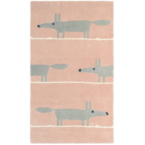 Scion Mr Fox Blush 25302 Modern Designer Wool Rug - Rugs Of Beauty - 1
