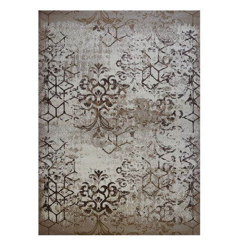 Quilon 1676 Sand Modern Abstract Patterned Rug - Rugs Of Beauty - 1