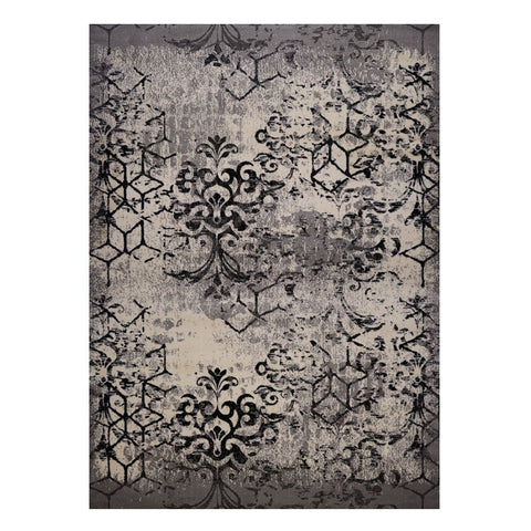 Quilon 1676 Smoke Modern Abstract Patterned Rug - Rugs Of Beauty - 1