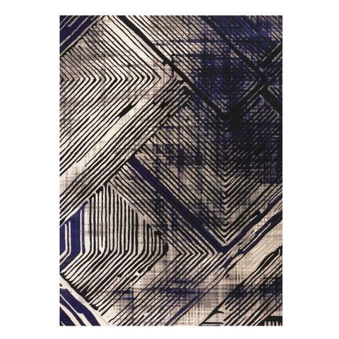 Quilon 1678 Onyx Modern Abstract Patterned Rug - Rugs Of Beauty - 1