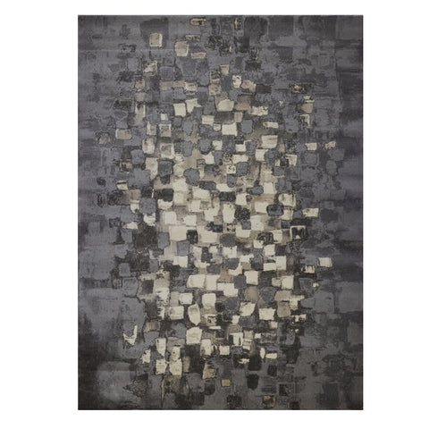 Quilon 1680 Smoke Modern Abstract Patterned Rug - Rugs Of Beauty - 1