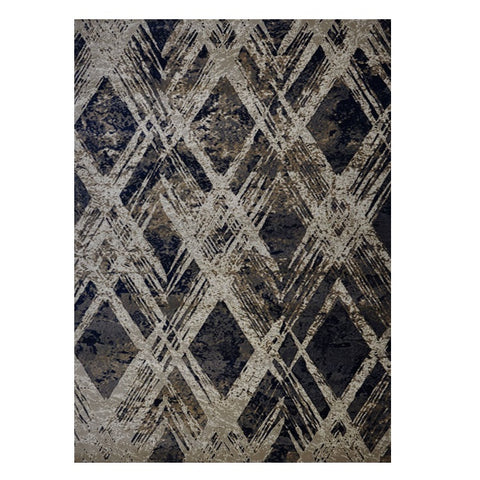 Quilon 1681 Ash Modern Abstract Patterned Rug - Rugs Of Beauty - 1