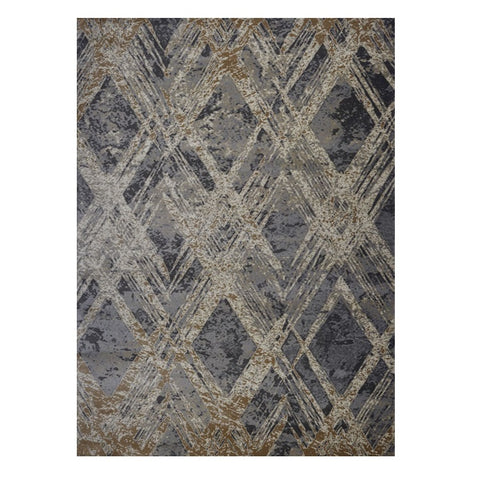 Quilon 1681 Smoke Modern Abstract Patterned Rug - Rugs Of Beauty - 1
