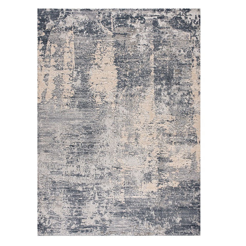 Nema 4379 Smoke Grey Modern Patterned Rug - Rugs Of Beauty - 1