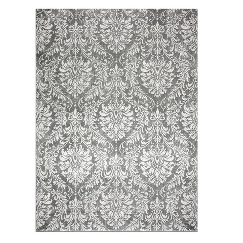 Acapulco 755 Grey Damask Patterned Modern Rug - Rugs Of Beauty - 1