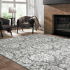 Acapulco 755 Grey Damask Patterned Modern Rug - Rugs Of Beauty - 2