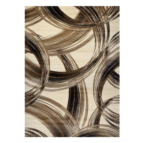 Canterbury 1125 Beige Curve Patterned Modern Rug - Rugs Of Beauty - 1