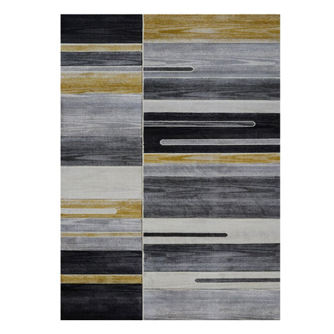 Canterbury 1126 Gold Grey Patterned Modern Rug - Rugs Of Beauty - 1
