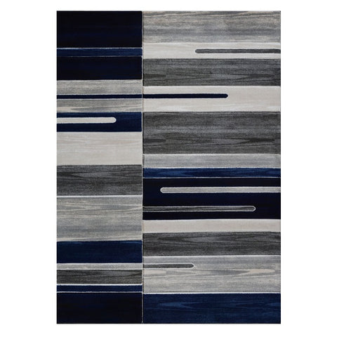 Canterbury 1126 Grey Blue Patterned Modern Rug - Rugs Of Beauty - 1