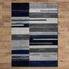 Canterbury 1126 Grey Blue Patterned Modern Rug - Rugs Of Beauty - 3