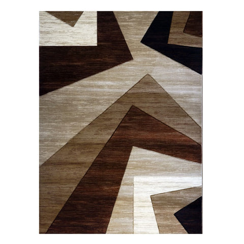 Canterbury 1127 Beige Brown Patterned Modern Rug - Rugs Of Beauty - 1